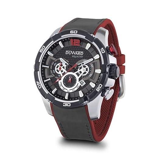DUWARD Reloj para Hombre Analógico Cuarzo con Correa de Piel sintética D85533.02: Amazon.es: Relojes