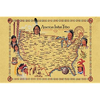 Amazoncom American Indian Tribes At Time Of Columbus Arrival Map