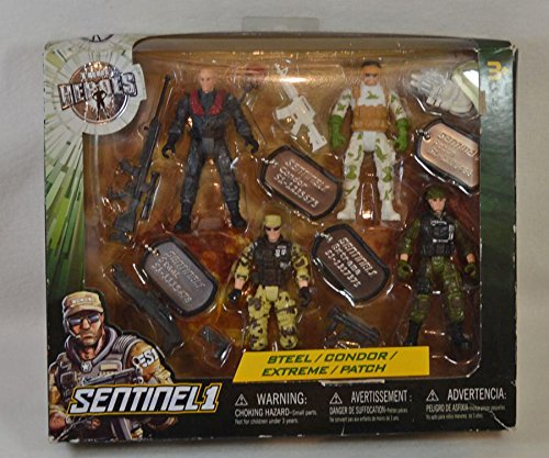 True Heroes Soldier Action Figures - Steel, Condor, Extreme & Patch