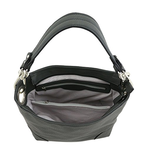 Hook Bag Charcoal Grey With Hobo Hardware Small Snap Shoulder Z4fZIq