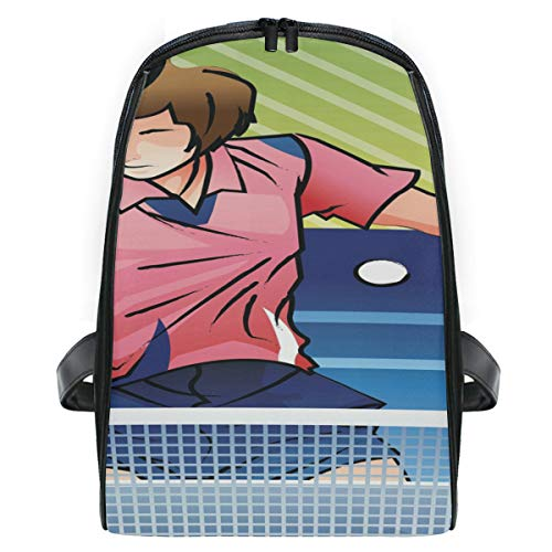 Table Tennis Player In Action School Backpack For Boys Kids Primary School Bags Children Backpacks