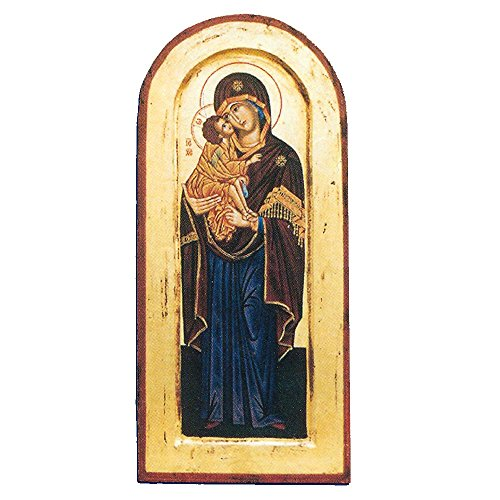 Lady of Vladimir Greek Painted Icon by Catholic Gifts USA