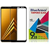 BlueArmor Tempered Glass Screen Guard Protector for Samsung Galaxy A8 Plus - Black