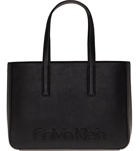 Edge Noir Medium Handbag Noir Klein Femme Calvin 4Oq8wx