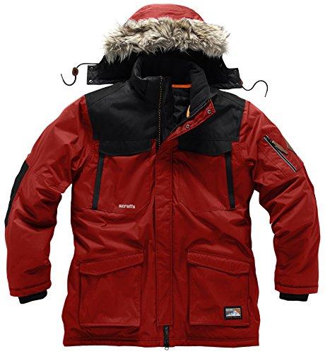 Scruffs Herren Classic Parka Thermo Jacke–Rot, Größe 48