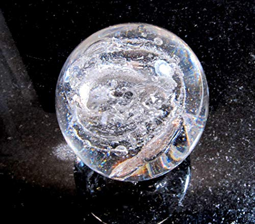 CREMATION ASH Glass MINI 'GALAXY' PAPERWEIGHT Memorial Glass Orb -