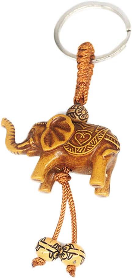 para mujer y hombre Llavero con dise/ño de elefante de la suerte Jixing