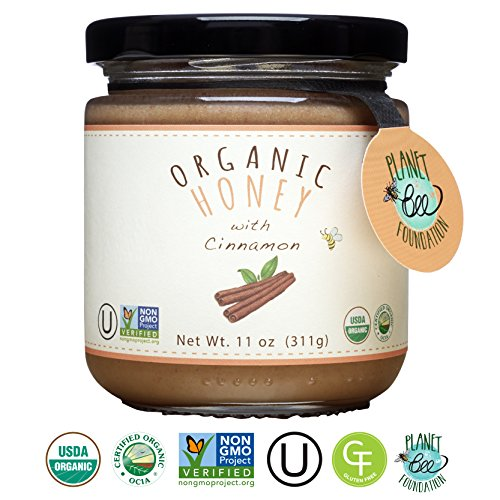 GREENBOW Organic Honey with Cinnamon - 100% USDA Certified Organic, Gluten Free, Non-GMO Organic Cinnamon Honey - Highest Quality Whole Food Organic Cinnamon Honey – 11oz (311g) (Cinnamon Honey)