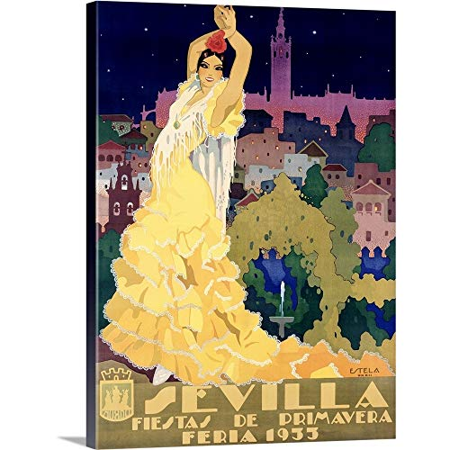 1933 Sevilla Fiesta Vintage Advertising Poster Canvas Wall Art Print, 18