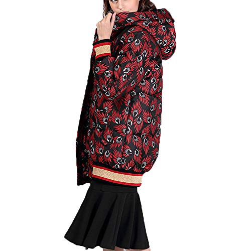 Capuche Costume Moyen Long d'hiver WUYEA Manteau Manteau Femme Chaud Vestes XL wqxqz8OCt