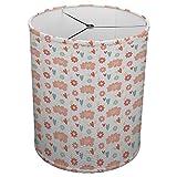 Hardback Linen Drum Cylinder Lamp Shade 8'' x 8'' x 8'' Spider Construction [ Word Love Hearts ]
