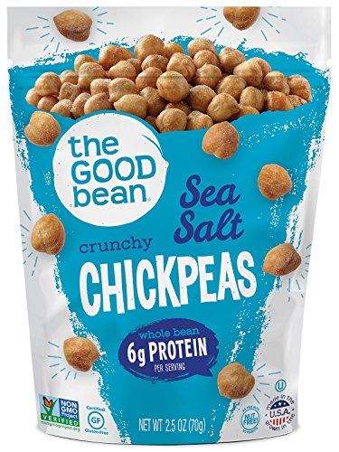 The Good Bean Chickpea Snacks, Sea Salt, Gluten and Nut Free, 2.5 Ounce (Pack of 12)