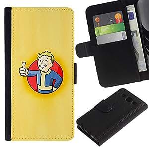 All Phone Most Case / Oferta Especial Cáscara Funda de cuero Monedero Cubierta de proteccion Caso / Wallet Case for Samsung Galaxy S3 III I9300 // Vault Boy Poster