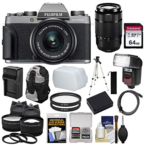 Fujifilm X-T100 Digital Camera & 15-45mm XC OIS PZ  & 50-230