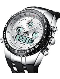 Big Face Sport Watches for Men, Roman Numeral Waterproof...