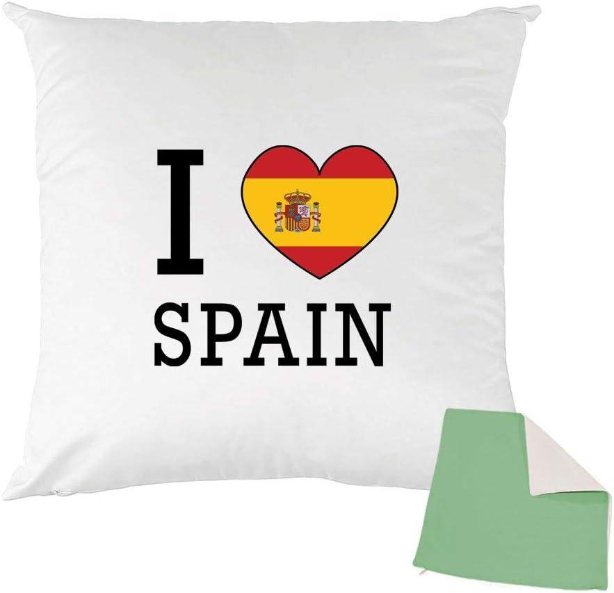 Mygoodprice - Funda de cojín Bicolor Estampada (40 x 40 cm), diseño de la Bandera de España, Color Verde: Amazon.es: Hogar