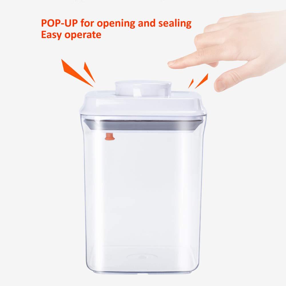 Dispensador de cereales Ankou, sin BPA, recipientes herméticos de almacenamiento de alimentos, jarra para espaguetis, café y terrones de azúcar, set de 2, ...
