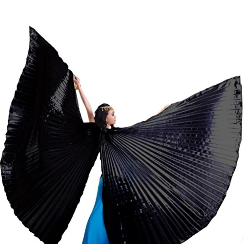 Pilot-trade Women's Egyptian Egypt Belly Dance Costume Bifurcate Isis Wings Black