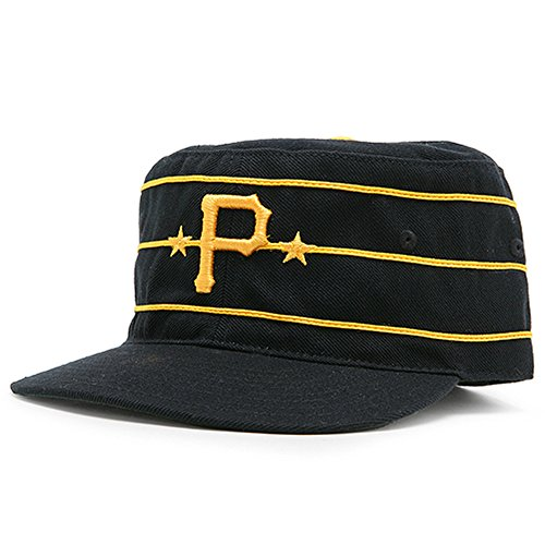 - American Needle Pittsburgh Pirates MLB 1977 Vintage Baker Cooperstown Fitted Cap (Black, 7 1/4)