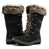 GLOBALWIN Women's 1730 Black Waterproof Winter Boots 9M US