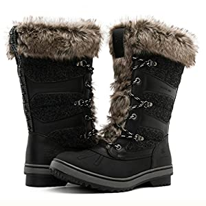 Global Win GLOBALWIN Women's 1730 Waterproof Winter Boots