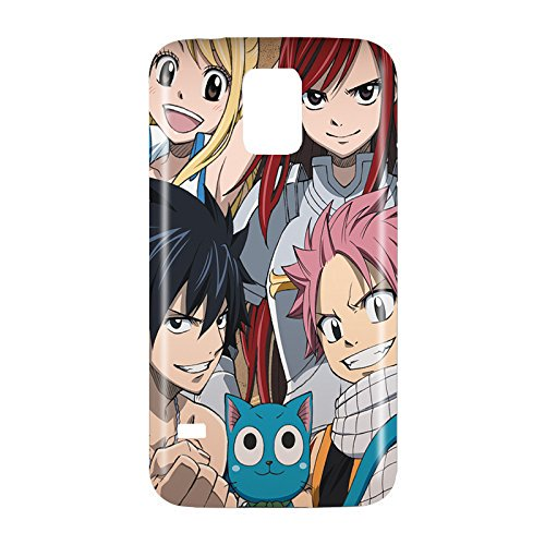 Fairy Tail Snap on Plastic Case Cover Compatible with Samsung Galaxy S5 GS5 (Galaxy Fairy S5 Tail)