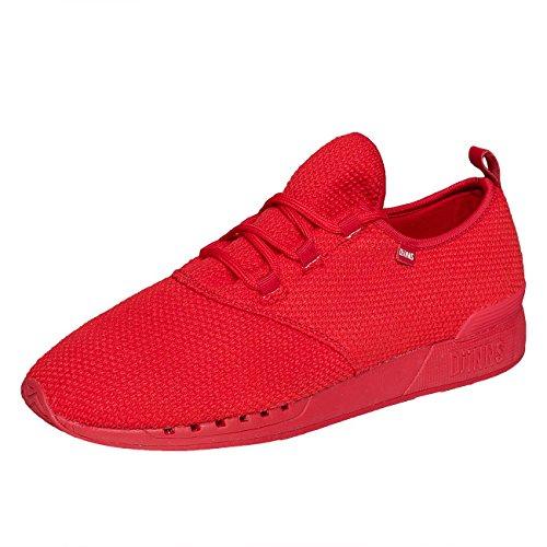 Djinns Herren Schuhe / Sneaker Run 3PLE rot 42