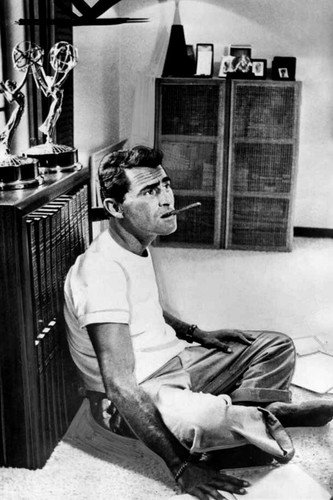 Rod Serling in The Twilight Zone sitting on office floor with cigar awards 11x17 Mini Poster ()
