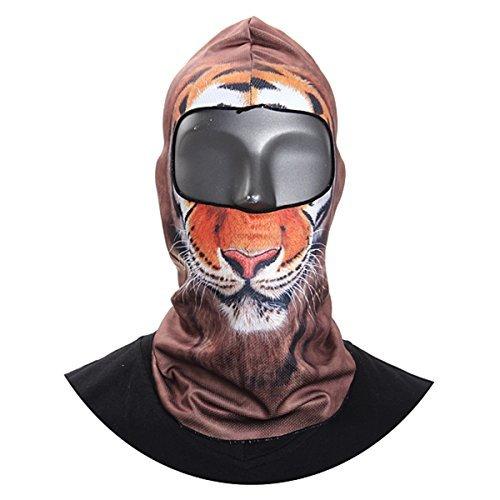 Camtoa Motorcycle Cycling Face Mask Breathable Anti Uv Face Mask Headgear Hats Lycra Balaclava Full Face Mask Neck Hood Animal Styles for Outdoor Sports Skiing Climbing 04