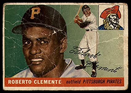 Amazoncom Baseball Mlb 1955 Topps 164 Roberto Clemente P