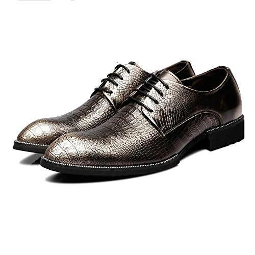 uomo shoes Jiuyue pelle Lace da Scarpe Rosso 41 Up oxford vera superiore Bronze 2018 Color di coccodrillo in Scarpe foderato Texture Dimensione Business EU traspirante Pelle Uomo fIrqdr