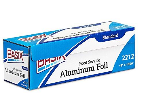 Basix Standard Food Service Aluminim Foil Roll 12'' Width x 1000' Length