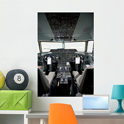 Airplane Cockpit (Cockpit Airplane Wall Mural by Wallmonkeys Peel and Stick Graphic (36 in H x 24 in W) WM222724)