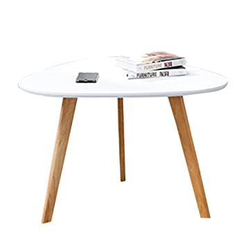 Amazon.com: Small Coffee Table Sofa Side Table Simple Solid ...
