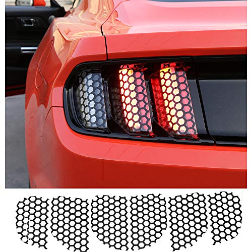 Mustang Honeycomb - Voodonala Rear Tail Light Sticker Lamp Honeycomb Stickers for Ford Mustang 2015 2016