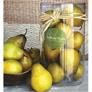 A&B Home Artificial Boxed Pears, 5.5 by 8.3-Inch