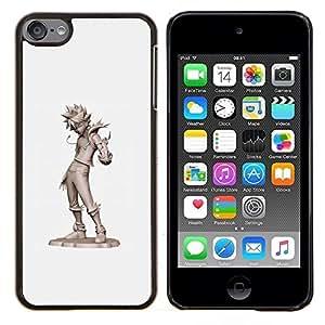 Eason Shop / Premium SLIM PC / Aliminium Casa Carcasa Funda Case Bandera Cover - Tin Man gris Carácter Cgi Japón - For Apple iPod Touch 6 6th Touch6