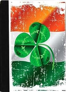 Rikki KnightTM Shamrock on Irish Flag Grunge Design Black pu Leather and Faux Suede Case for Apple iPad? Mini