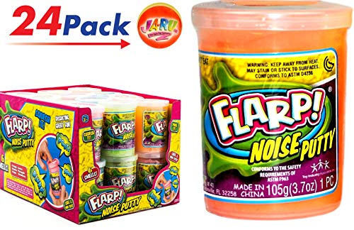 JA-RU FLARP Noise Putty (Pack of 24) Squish to Make Gas Sounds | Item #10041-24R (Best Summer Camp Pranks)