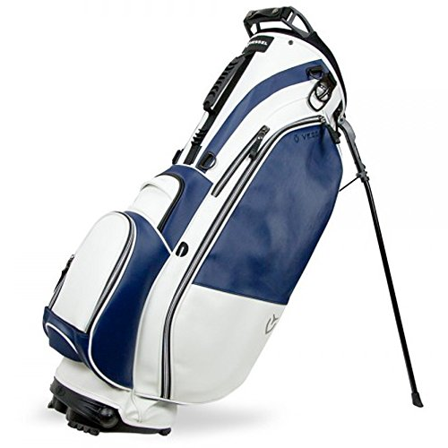 Vessel Bags 2018 Player 14-Way Stand Bag White/Navy Metal Zippers NEW (Vessel Bag)
