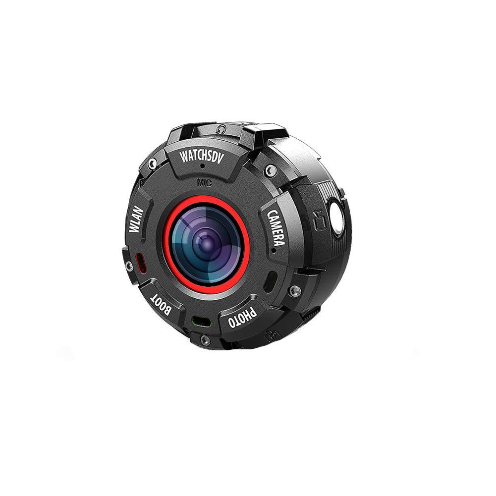 SPORS Round Screen Sports DV Camera Smart Watch, IP68 Depth Waterproof Outdoor Sports Watch, WiFi Camera watch-720P by SPORS