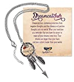 Silver Bohemia Dreamcatcher Pendant Long Feather & Arrow Necklace - SPUNKYsoul Collection