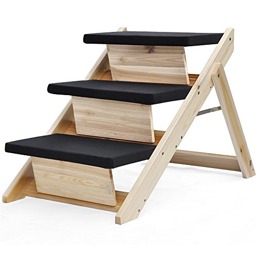 Amazon.com : Radical Deal 2 In 1 Folding Pet Ramp U0026 Stairs For Dog Cat  Portable Carpet Wooden Steps Ladder : Pet Supplies