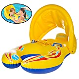 Baby Pool Float,Baby Infant Swimming Pool Float, Inflatable Baby Clamshell Swimming Boat with Sun Canopy, Baby Swimming Ring, Pool Toy for Kids Age 1-3 Years by Stwie(Style A)