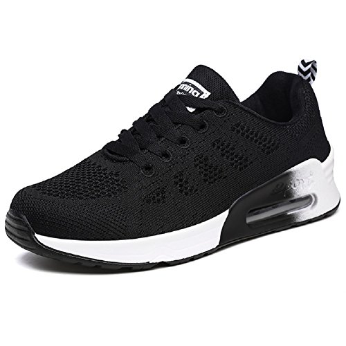 Deportes Correr en Zapatillas Zapatos para Montaña y Negro Asfalto Libre para y YORWOR Aire Mujer qEvp1w