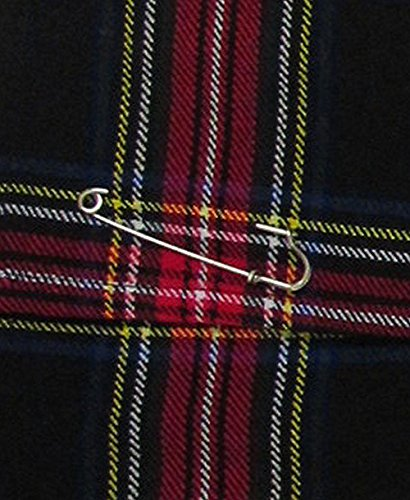 Stewart Rouge 42 gratuite Mini kilt jupe tartan Noir noir cm pingle 6nqz0tw0T
