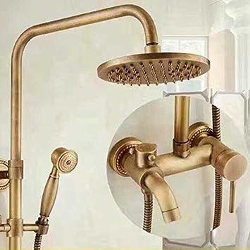 AGOAIX-Shower Dusche/Europäische Deluxe Bronze Antike Blume Dusche ...