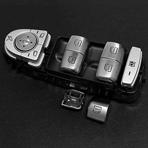 Yebobo Car Master Seat Window Control Switch Repair Button Caps for Mercedes C-Class W205 Chassis GLC Full Series W253 2015