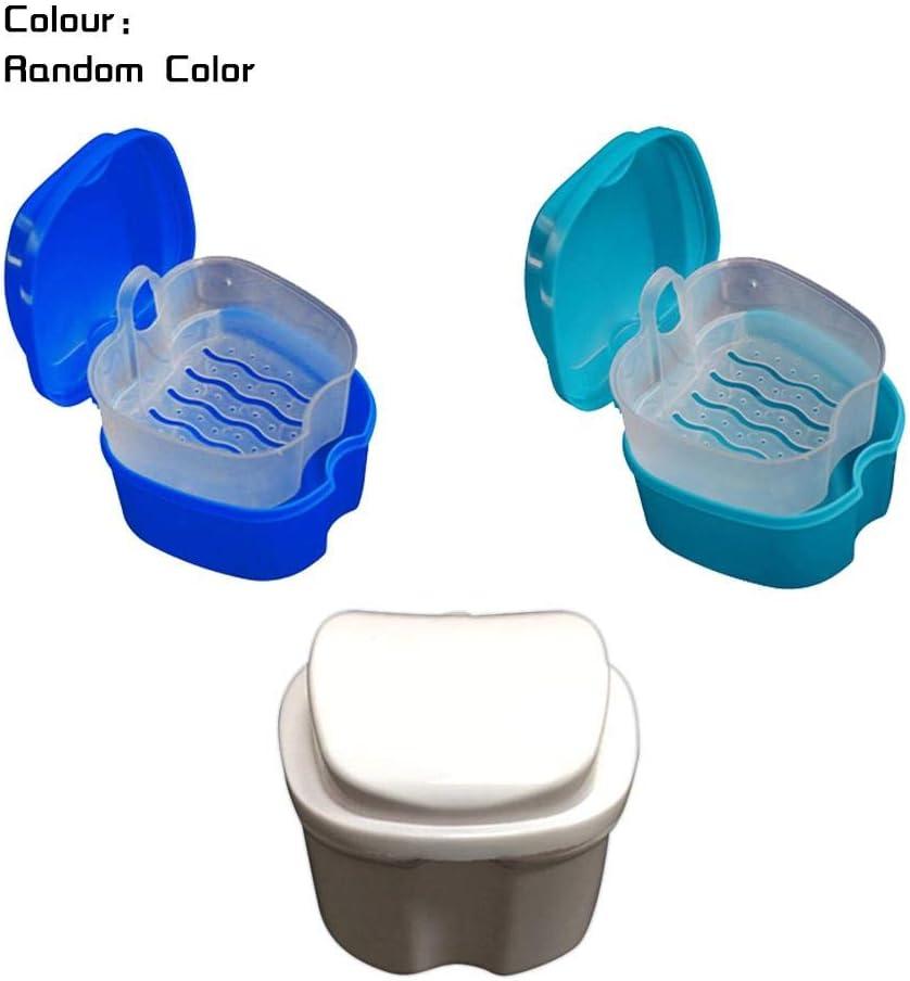 Eruditter Caja Dental Caja De Baño Caja De Dentadura Contenedor De Baño De Almacenamiento Dental con Sistema De Dentadura Colador: Amazon.es: Hogar