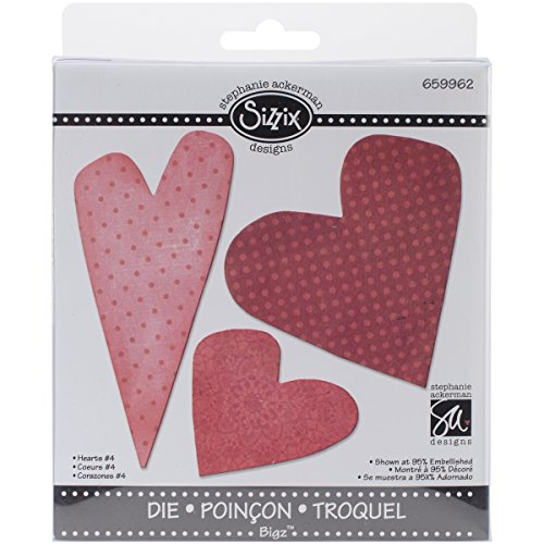 (Sizzix 659962 Hearts-4 Bigz Die, 5.5-Inch by)